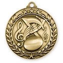 3D Music Wreath Medals 2 3/4