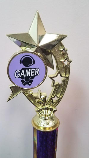 Shooting Stars Gaming Trophies- Purple/Black
