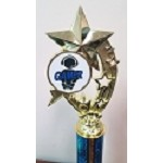 Shooting Stars Gaming Trophies- Blue/White