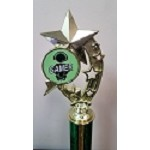 Shooting Stars Gaming Trophies- Green/Black