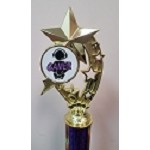 Shooting Stars Gaming Trophies- Purple/White
