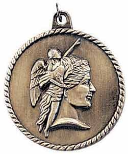 Achievement High Relief Medal 2""
