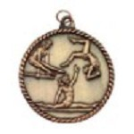 Gymnastics High Relief Medal - Female 2