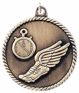 Track High Relief Medals 2""