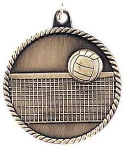 Volleyball High Relief Medals 2""