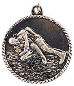 Wrestling High Relief Medals 2""