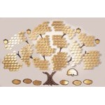 Donor Recognition Tree- 'Growing Tree' with 300 Leaves
