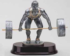 Weightlifter Resin Sculpture - Male